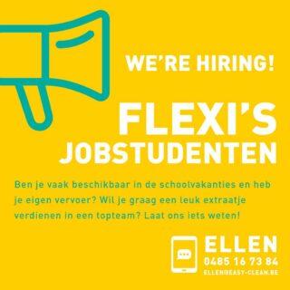 📢ᴡᴇ'ʀᴇ ʜɪʀɪɴɢ!   #flexijob #jobstudent #easycleanbrugge