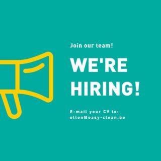 👉🏼Op zoek naar een leuke job?   👉🏼Heb je een passie voor orde,netheid en poetsen? 🧽🧹  👉🏼Dan ben jij de persoon die we zoeken! 😃  👉🏼E-mail je CV naar:  ellen@easy-clean.be  #jobalert #schoonmaak #poetsen #easycleanbrugge #wewantyou