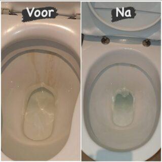 👉🏼Last van kalkaanslag in het toilet?  Wij weten raad! 😃💪🏼🧽✅  . . #easycleanbrugge #schoonmaken #wijdoenhetvoorje #cleaning